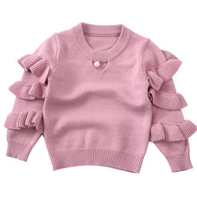 Load image into Gallery viewer, Pearla Ruffled Sleeve Sweater - Adassa Rose