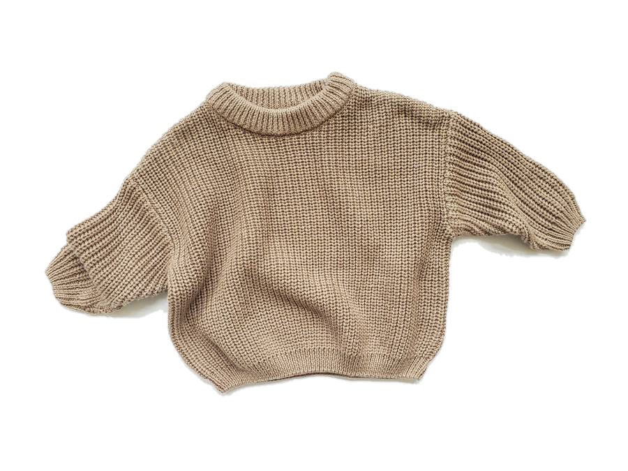 Chunky Knit Sweater Baby | Mocha