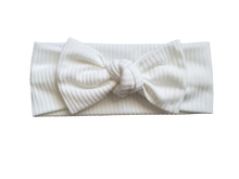 Load image into Gallery viewer, Ribbed Knot Bow Headband In White