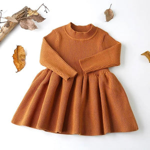 Ensley Knitted Dress Chestnut - Adassa Rose