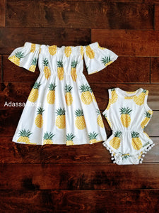 Big Sister Little Sister Pineapple Outfits - Adassa Rose