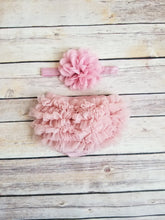 Load image into Gallery viewer, Vintage Pink  Bloomer And Headband Set Newborn Bloomer Set - Adassa Rose