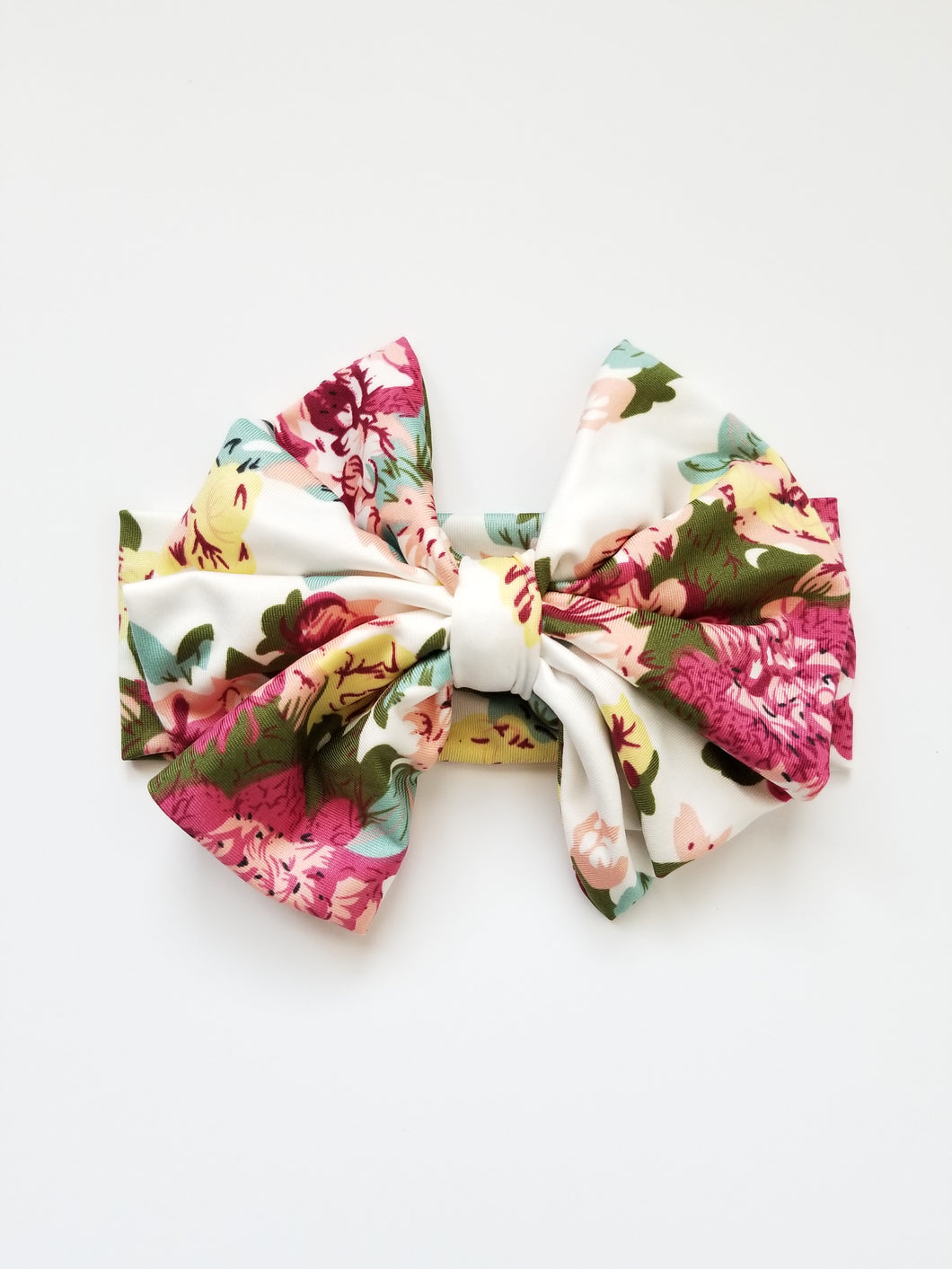 Scarlett Floral Messy Bow Headwrap - Adassa Rose