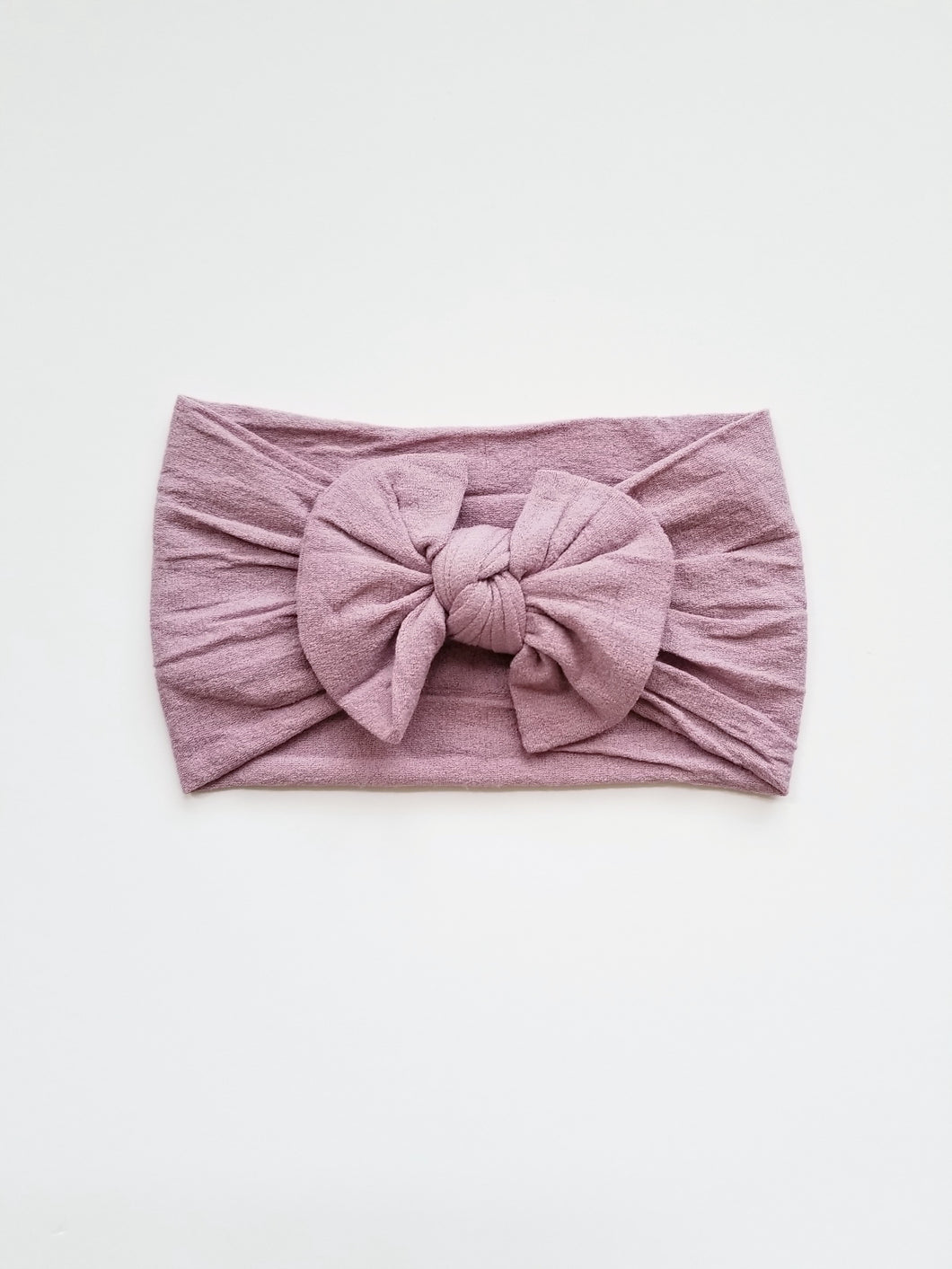 Nylon Bow Headwrap In Lilac - Adassa Rose