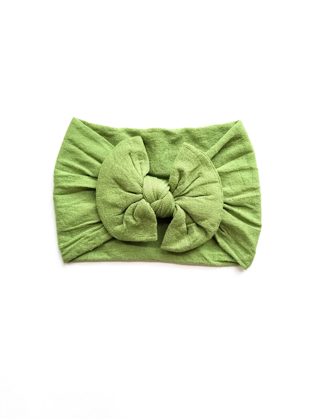 Nylon Bow Headwrap In Mint - Adassa Rose