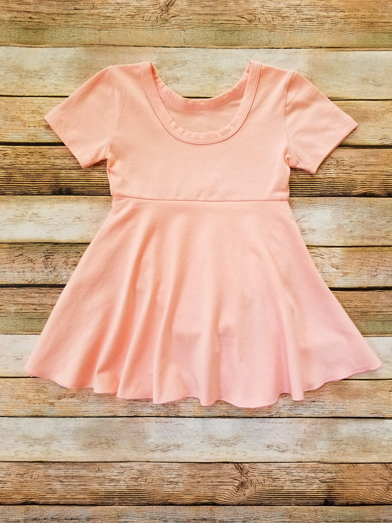 Romper Dress Baby Girl Peach - Adassa Rose
