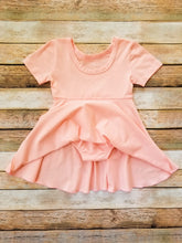 Load image into Gallery viewer, Romper Dress Baby Girl Peach - Adassa Rose