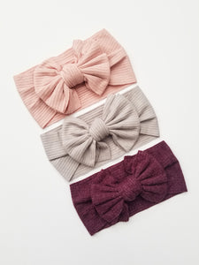 Layered Bow Headwrap - Adassa Rose