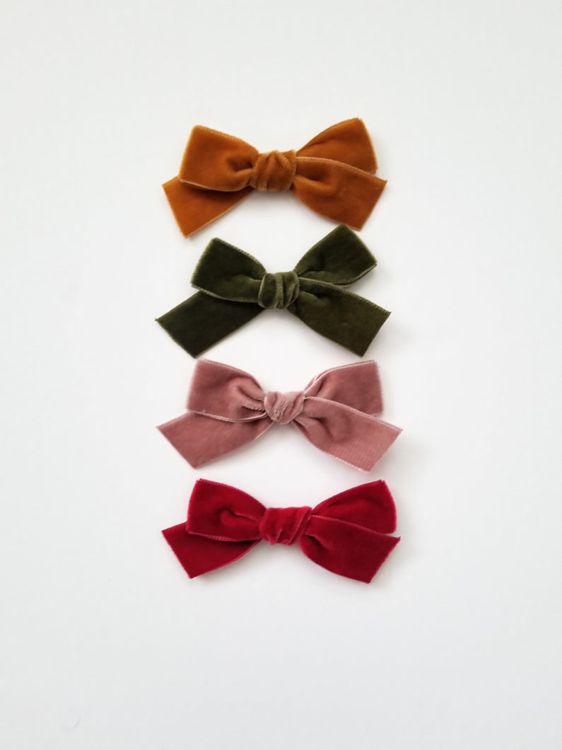 Velvet School Girl Bows