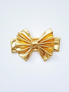 Gold Messy Bow Headwrap Baby - Adassa Rose