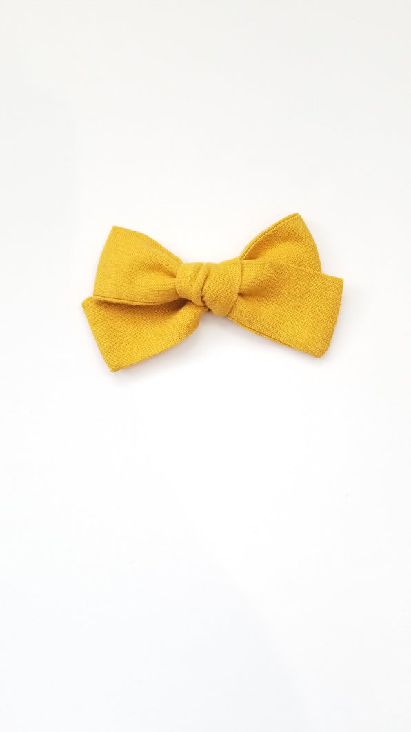 Nyla Knotted Hair Bow - Mustard - Adassa Rose