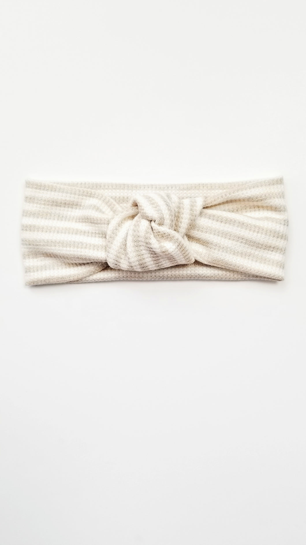 Nova Knot Headband | Striped Oatmeal - Adassa Rose