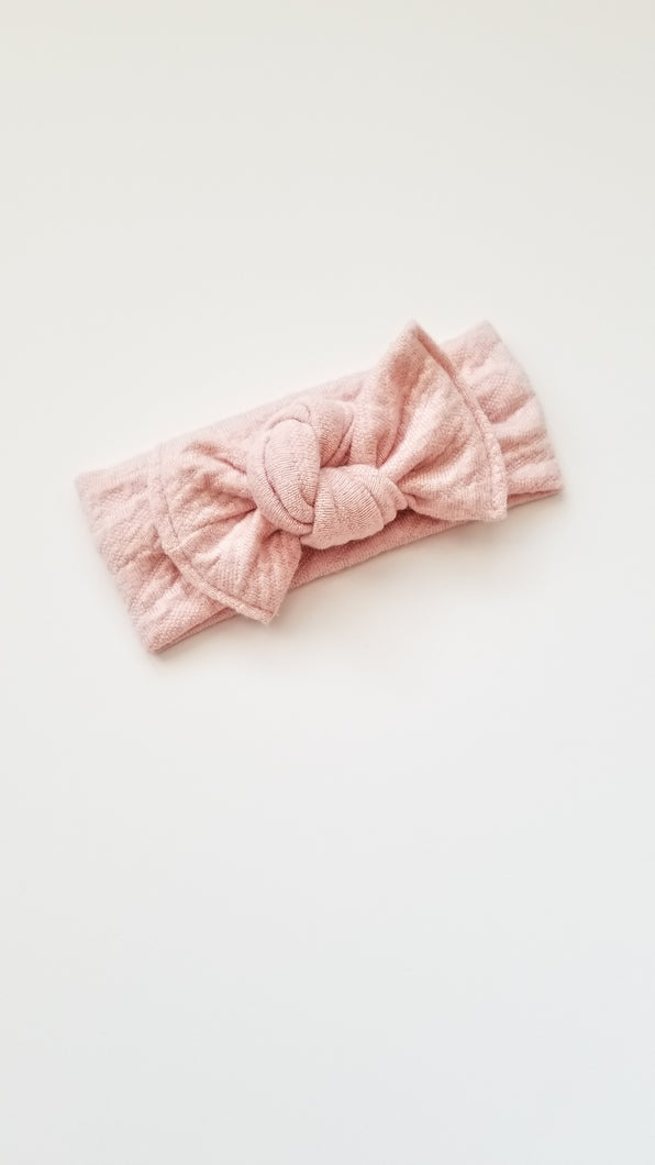 Nola Bow Headwrap - Blush Pink - Adassa Rose