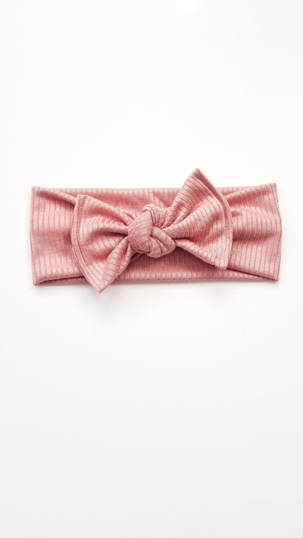 Chelsea Bow Headwrap | Blush - Adassa Rose