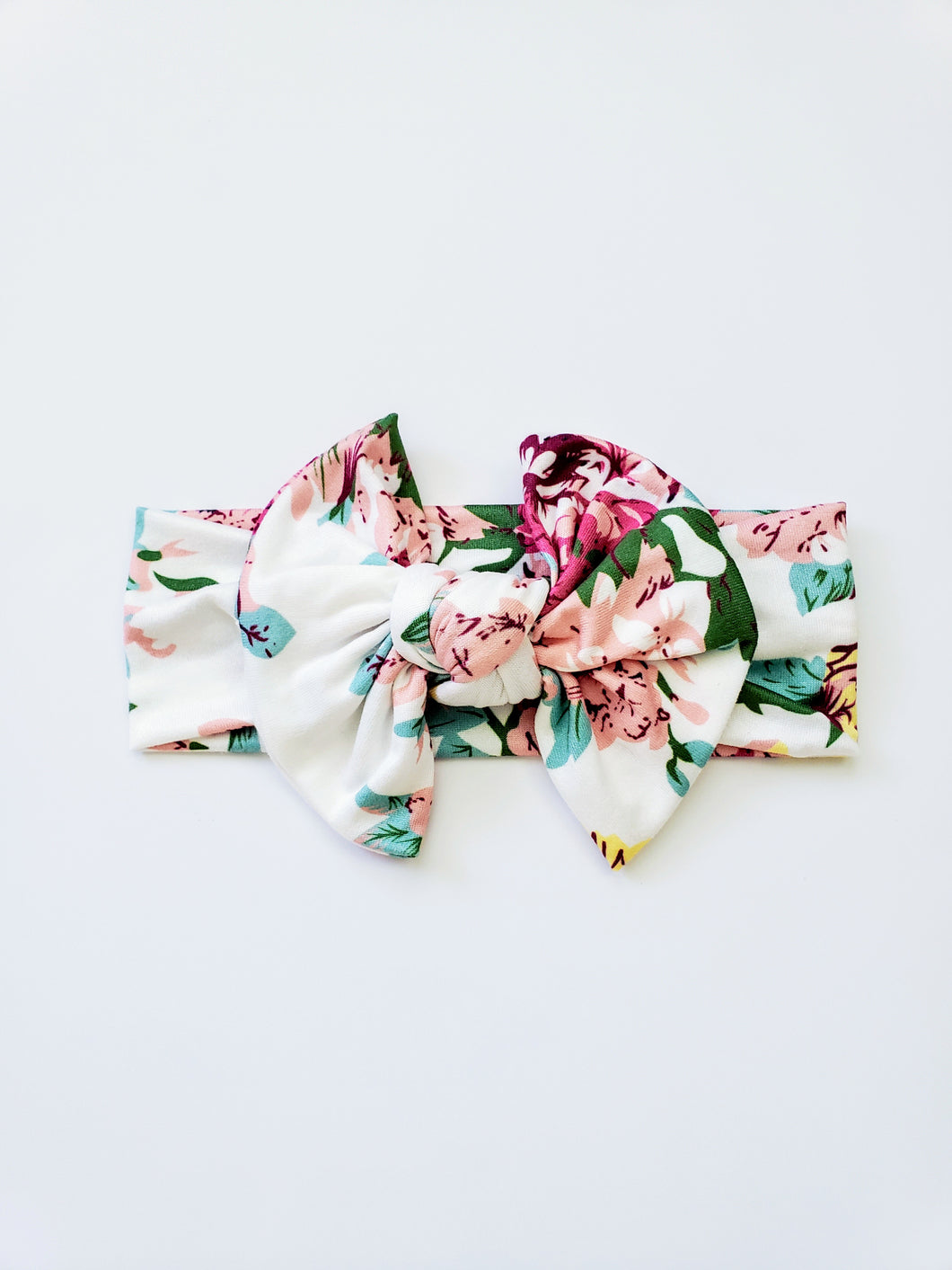 Scarlett Floral Knotted Bow Headwrap - Adassa Rose