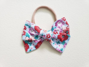 Garden Party Floral Baby Bow Headband - Adassa Rose