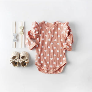 Ruffled Hearts Bodysuit - Adassa Rose