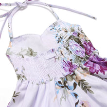 Load image into Gallery viewer, Madison Floral Halter Dress Lavender - Adassa Rose