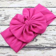 Load image into Gallery viewer, Messy Bow Headband Light Pink Bow Headwrap - Adassa Rose
