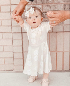 Romper Dress Baby Girl Shabby Rose - Adassa Rose