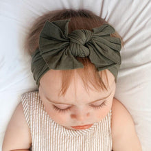 Load image into Gallery viewer, Aubrey Nylon Bow Headwrap Olive - Adassa Rose