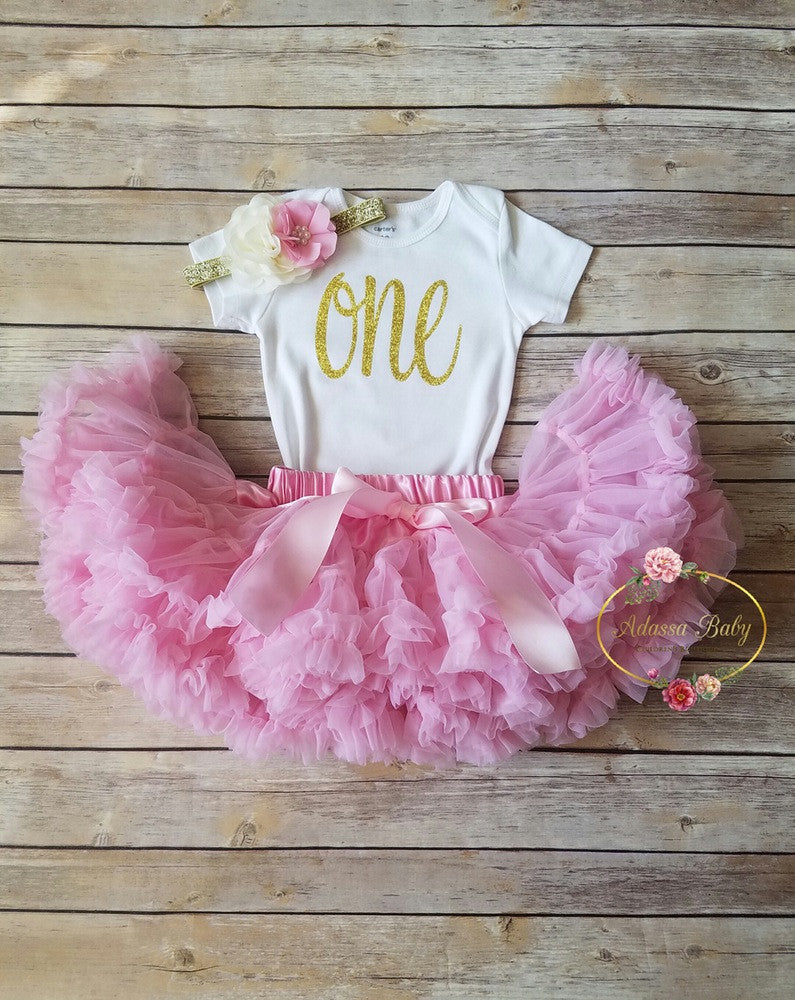 c8d2ccbc0 Pink And Gold First Birthday Outfit - Adassa Rose