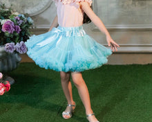 Load image into Gallery viewer, Aqua Tutu Skirt - Adassa Rose