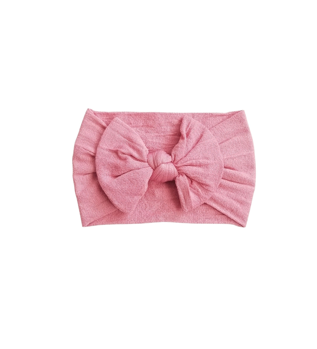 Nylon Bow Headwrap Rose Pink - Adassa Rose