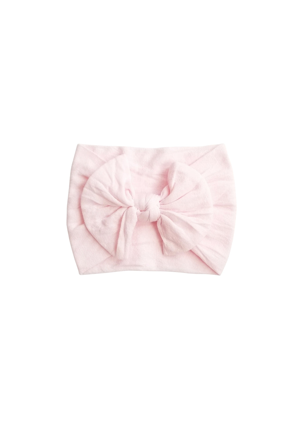 Nylon Bow Headwrap Softest Pink - Adassa Rose