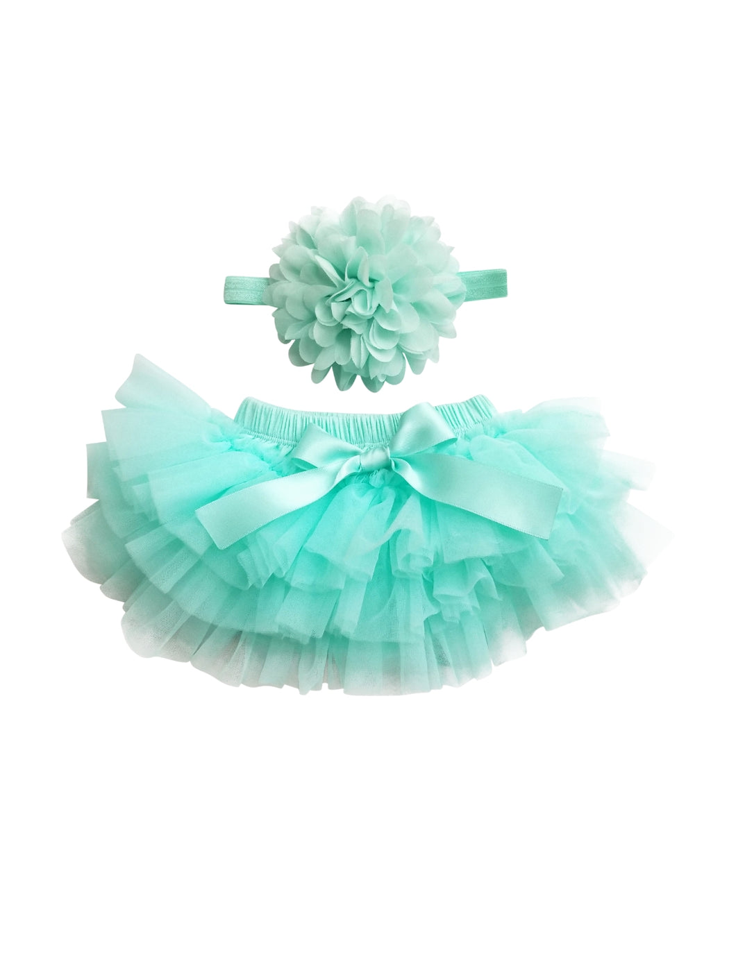 Mint Tutu Bloomer And Headband Set - Adassa Rose