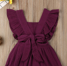 Load image into Gallery viewer, Mila Ruffle Romper Burgundy - Adassa Rose