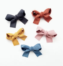 Load image into Gallery viewer, Corduroy Sailor Bow Clip Set - Adassa Rose