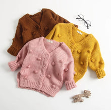 Load image into Gallery viewer, Pom Pom Cardigan Sweater - Adassa Rose