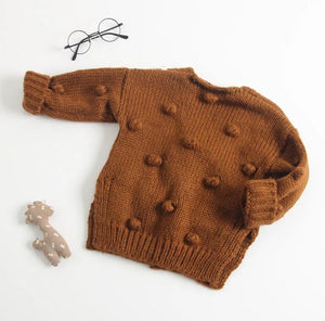 Pom Pom Cardigan Sweater - Adassa Rose