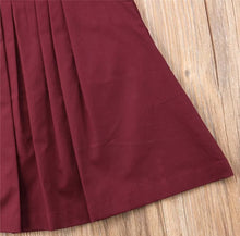 Load image into Gallery viewer, Ayla Pleated Flutter Sleeve Dress Baby Girl Burgundy - Adassa Rose