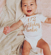 Load image into Gallery viewer, Half Birthday Babe Onesie - Adassa Rose