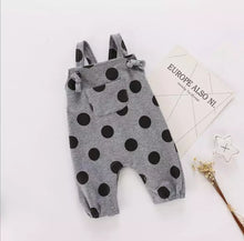 Load image into Gallery viewer, Polka Dot Overall Romper - Adassa Rose