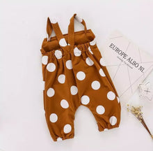 Load image into Gallery viewer, Polka Dot Overall Romper