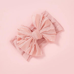 Rosie Bow Headwrap - Blush Pink - Adassa Rose