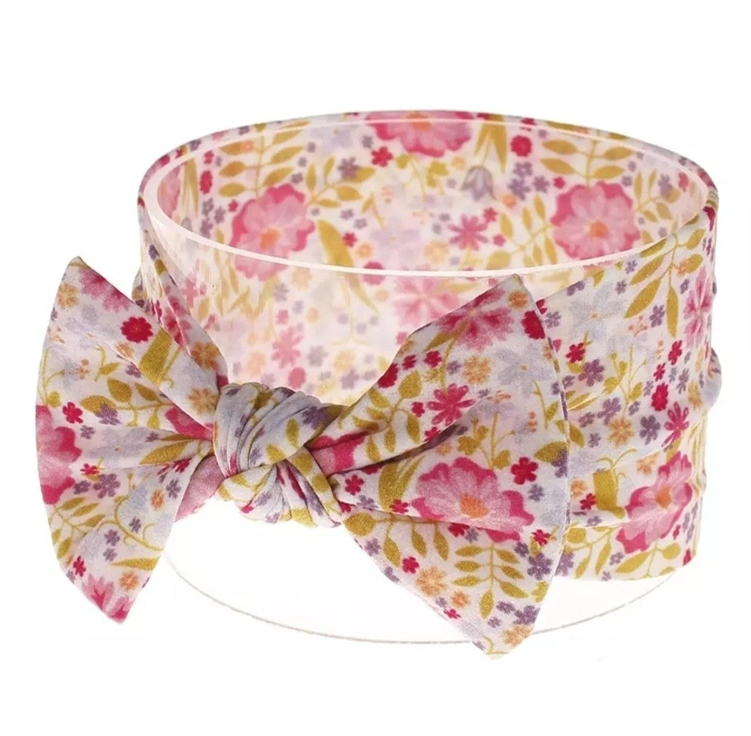 Pretty Bloom Knot Headband - Adassa Rose