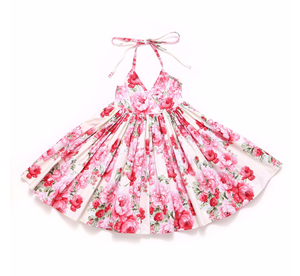 Bianca Sweetheart Dress Pink - Adassa Rose