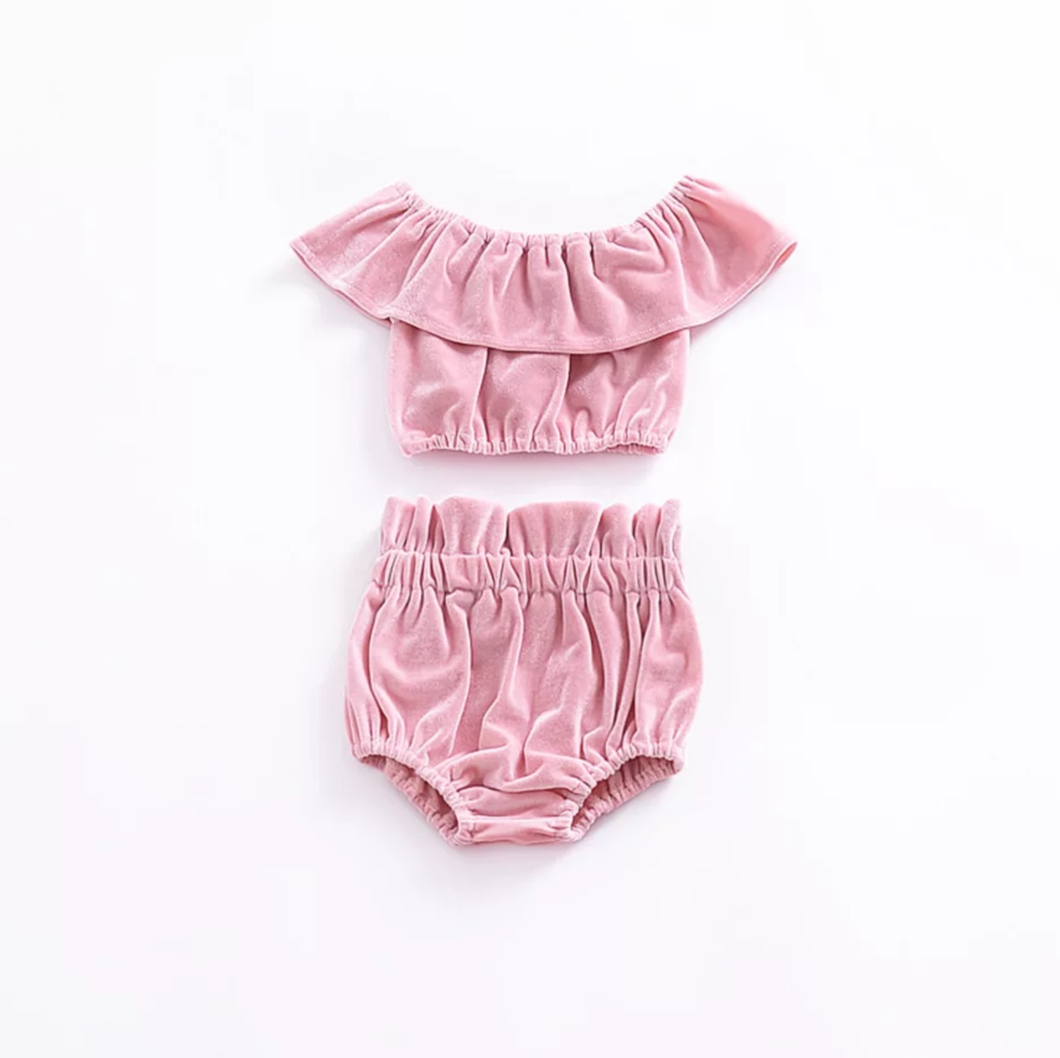 Addison Crop Top Set - Adassa Rose