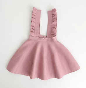 Penelope Knit Overall Dress Vintage Pink - Adassa Rose