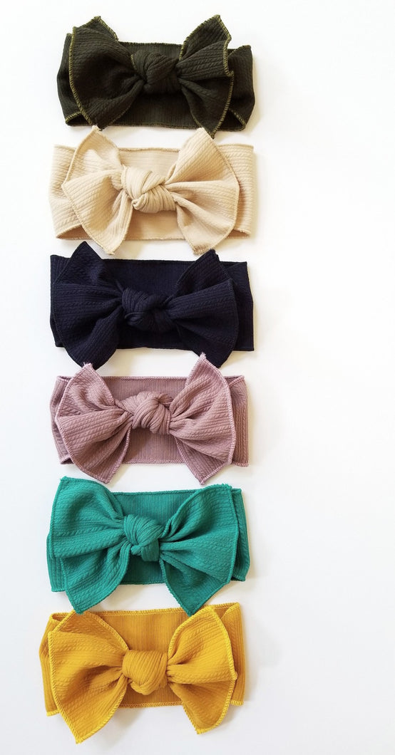 Ella Knotted Bow Headwrap - Adassa Rose