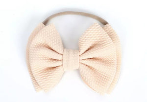 Layered Bow Headband | Nude - Adassa Rose