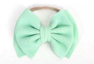 Layered Bow Headband | Mint - Adassa Rose