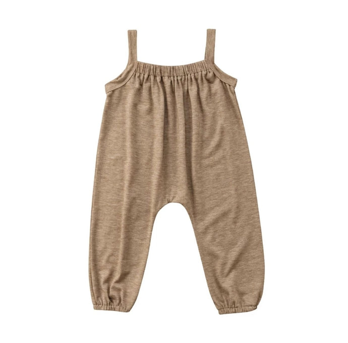 Jenna Jumpsuit Baby Girl | Tan - Adassa Rose