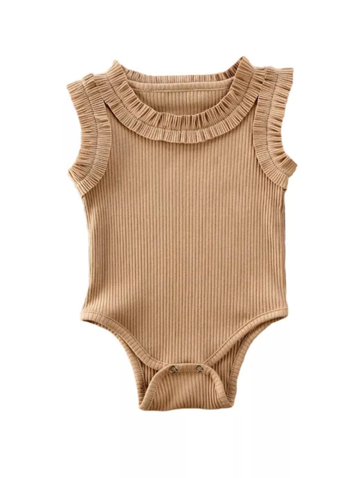 Malena Bodysuit Baby Girl | Tan - Adassa Rose