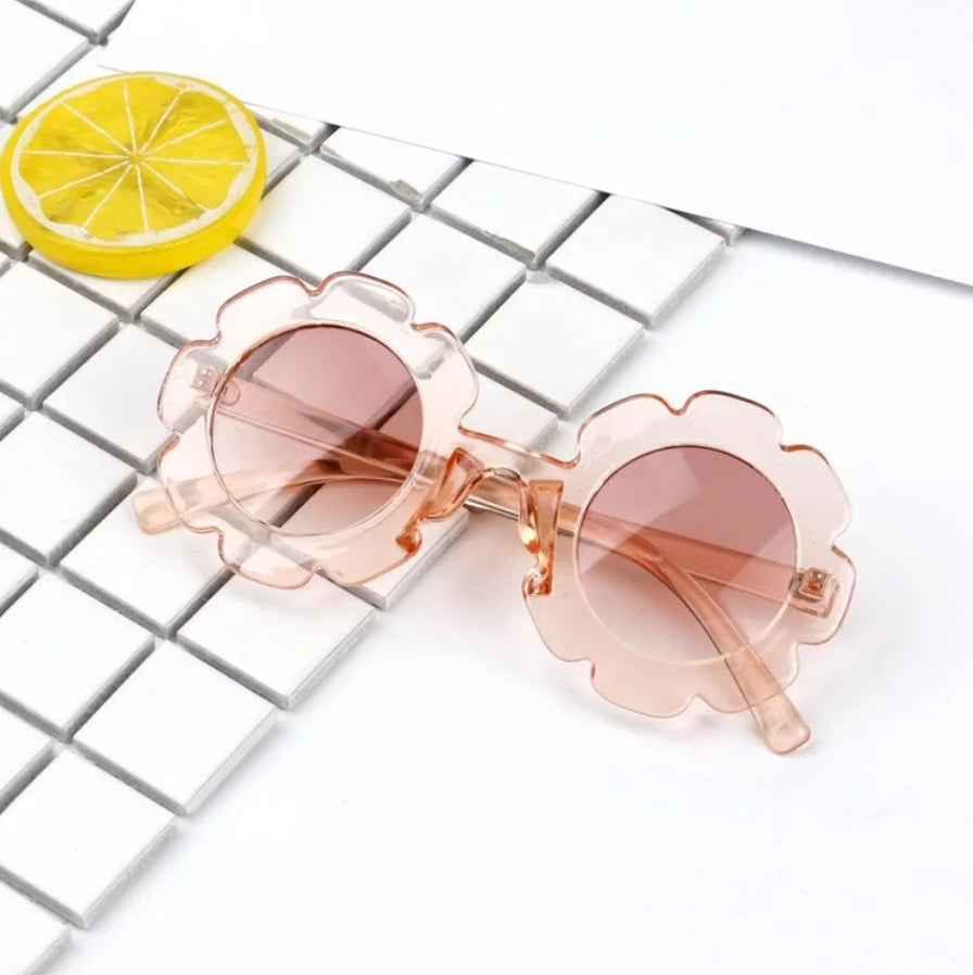 Flower Sunnies Kids Sunglasses | Clear Blush - Adassa Rose