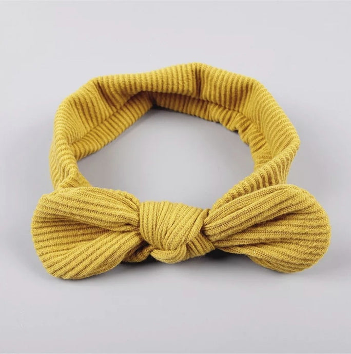 Ribbed Top Knot Headband | Mustard - Adassa Rose